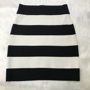 Theory Prosecco Holeen S striped skirt